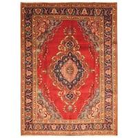 Handmade Herat Oriental Persian Hand-Knotted Tabriz Wool Rug (Iran) - 8'2 x 11'2