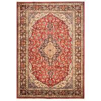 Handmade Herat Oriental Persian Hand-Knotted Kashan Wool Rug (Iran) - 8'5 x 11'6