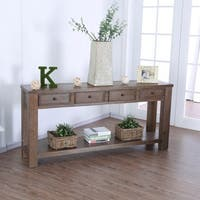Furniture of America Cosbin 4-drawer Sofa Table