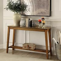 Furniture of America Layton Rustic Midcentury Modern Sofa Table