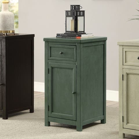 Furniture of America Kae Vintage Solid Wood 1-drawer Side Table