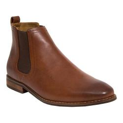 Men's Deer Stags Award Chelsea Boot Dark Luggage Brown Leather/Man Made