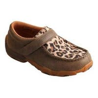 Children's Twisted X Boots CDM0004 Driving Moc Bomber/Leopard Leather
