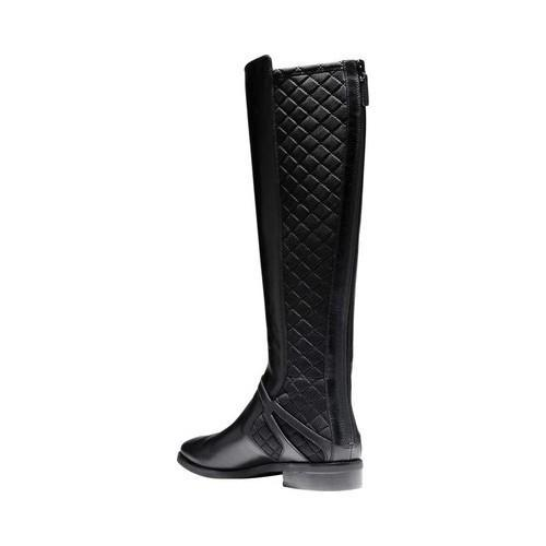 ... Women's Cole Haan Imogene Boot II Black Leather/Black Stretch