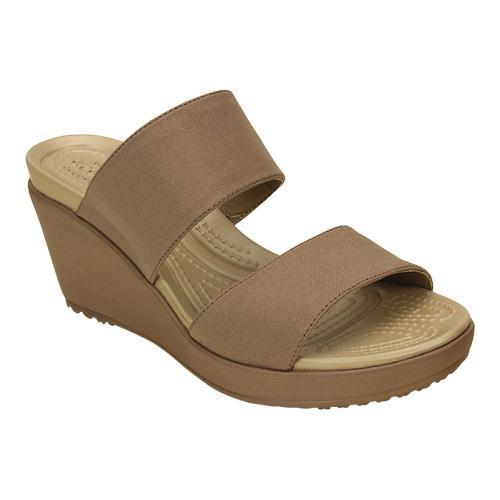 Womens Crocs Leigh II 2strap Wedge Sandal BronzeBronze