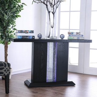 Furniture of America Laub Contemporary Black Solid Wood Console Table