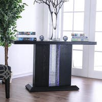Furniture of America Brent Contemporary LED Black Console Table