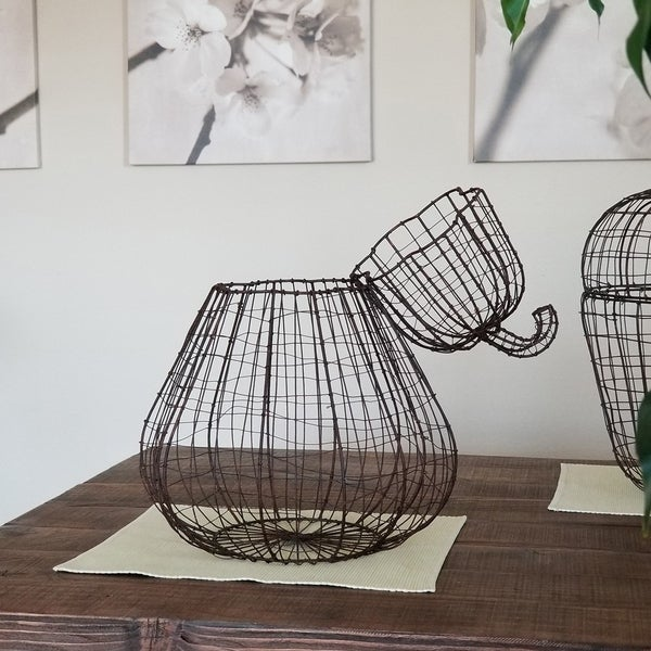 Handmade Pear Basket Sculpture (Philippines)