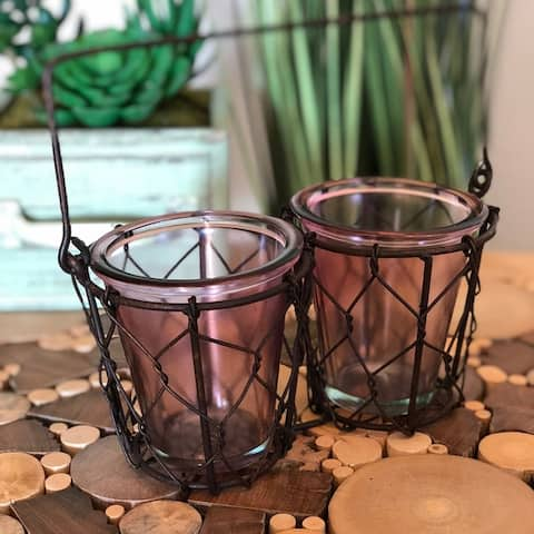 Handmade 2-Votive Candle Holder (Philippines)