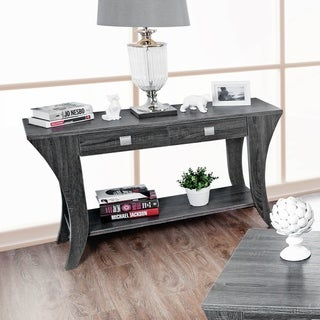 Furniture of America Percy Contemporary Grey 2-drawer Sofa Table
