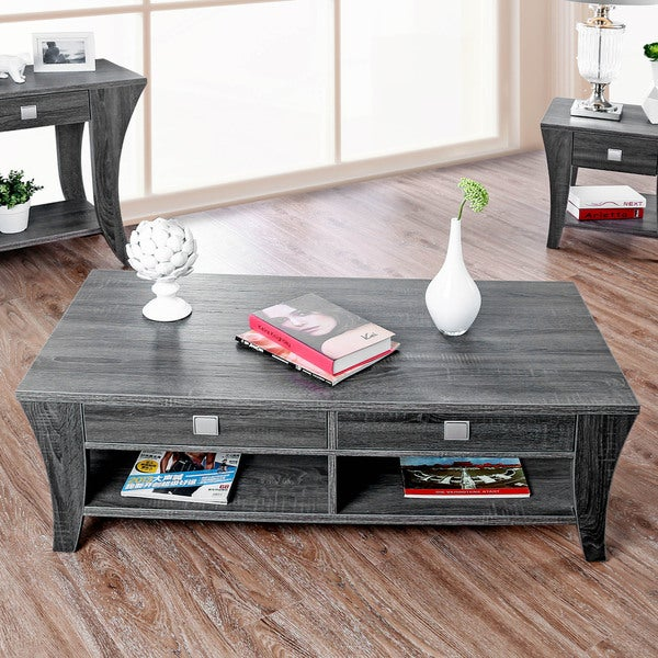 Furniture of America Werc Contemporary Grey Coffee Table
