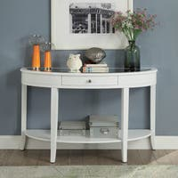 Furniture of America Annabeth Transitional White 1-drawer Sofa Table