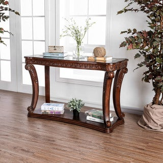 Link to Furniture of America Derg Traditional Oak Solid Wood Sofa Table Similar Items in Living Room Furniture