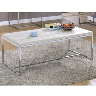 Olsen Contemporary Chrome Coffee Table by FOA