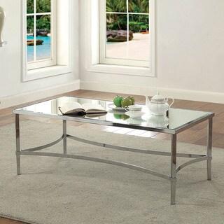 Furniture of America Umea Contemporary Chrome Metal Coffee Table