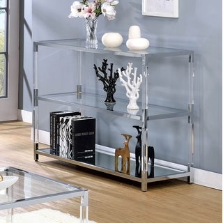 Furniture of America Fald Contemporary Chrome Metal 2-shelf Sofa Table