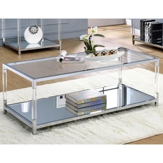 Furniture of America Fald Contemporary Chrome Metal Coffee Table