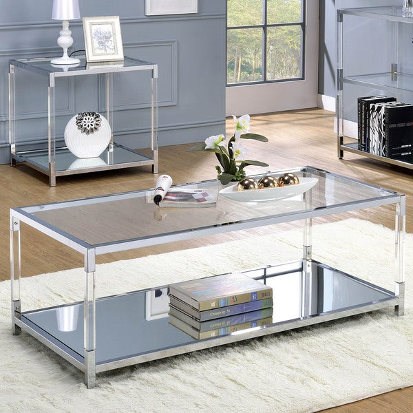 Shop Furniture Of America Thalberg Contemporary Acrylic