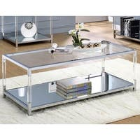 Furniture of America Thalberg Contemporary Acrylic/Chrome Coffee Table