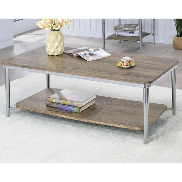 Shop Marlo Contemporary Chrome Coffee Table By FOA   On Sale   Free  Shipping Today   Overstock   20300834