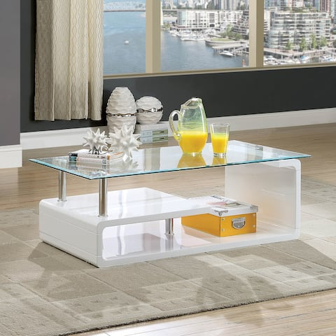 Frank Contemporary White Coffee Table by FOA