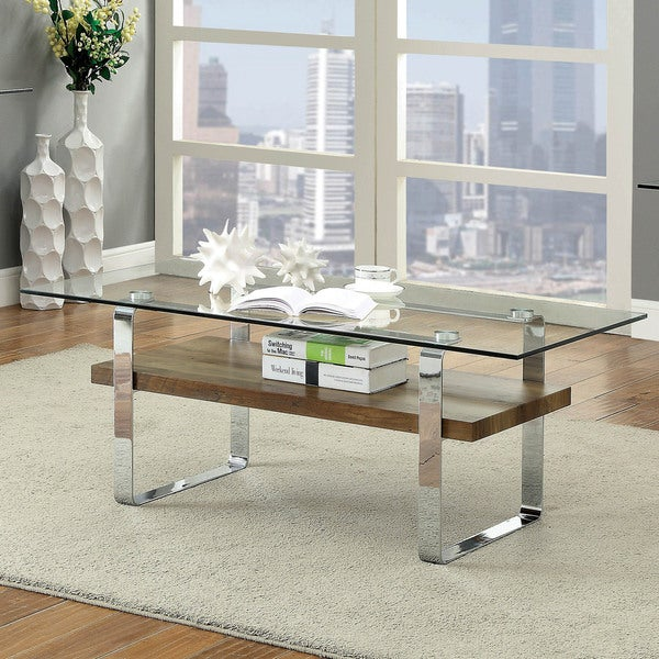 Shop Catalan Contemporary Chrome Coffee Table By FOA   On Sale   Free  Shipping Today   Overstock   20300859