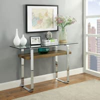 Furniture of America Catalan Contemporary Glass Sofa Table