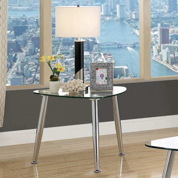 Furniture of America Shab Contemporary Chrome Metal End Table. Opens flyout.