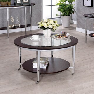 Furniture of America Jena Contemporary Brown Metal Coffee Table