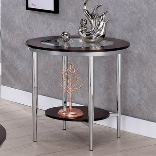 Furniture of America Jena Contemporary Brown Metal End Table