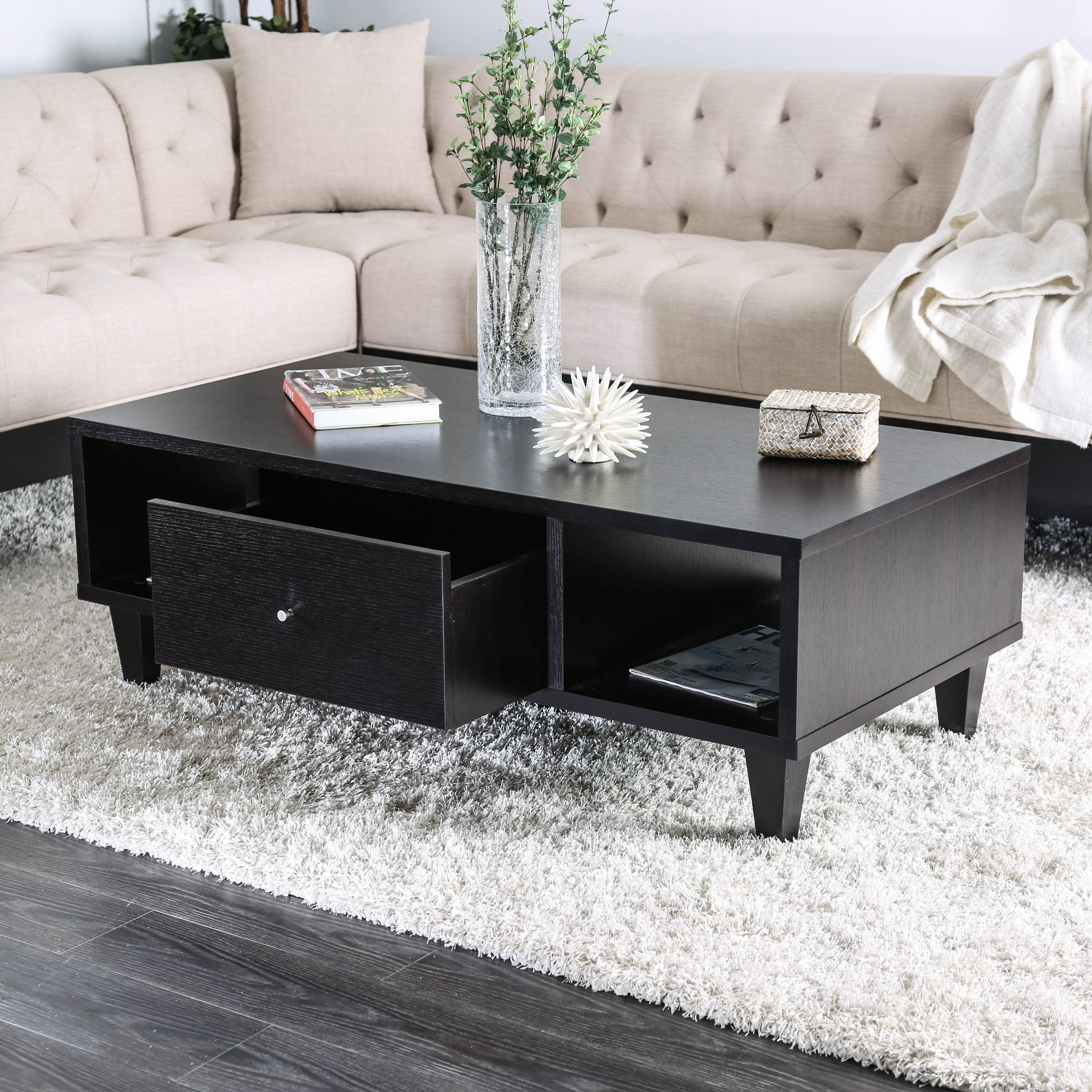 Fantastic Cassandra Contemporary Espresso 1 Drawer Coffee Table By Foa Ibusinesslaw Wood Chair Design Ideas Ibusinesslaworg