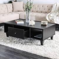 Furniture of America Cassandra Contemporary Espresso Coffee Table