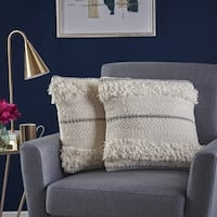 Miles Square Wool Lace Pillow (Set of 2) by Christopher Knight Home