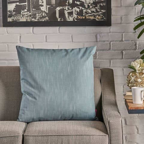 Misty Large Square Fabric Pillow by Christopher Knight Home