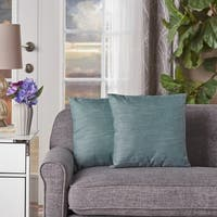Misty Small Square Fabric Pillow (Set of 2) by Christopher Knight Home