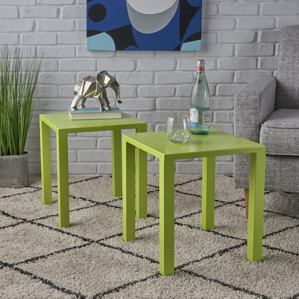 Windsdor Modern Aluminum Side Tables (Set of 2) by Christopher Knight Home