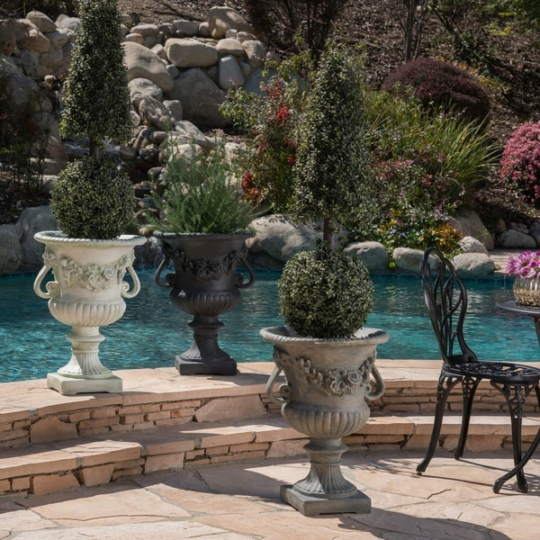 Buena Vista Outdoor 24-inch Cast Stone Urn by Christopher Knight Home. Opens flyout.