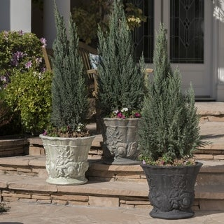 Link to Guava Outdoor 15-inch Cast Stone Urn by Christopher Knight Home Similar Items in Planters, Hangers & Stands