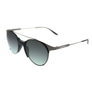 Carrera Round Carrera 128/S KJ1 Unisex Dark Ruthenium Frame Green Gradient Lens Sunglasses