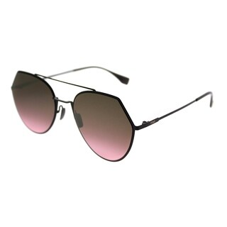 Fendi Aviator FF 0194 Eyeline 0T7 Unisex Plum Frame Pink Gradient Lens Sunglasses