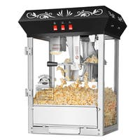Superior Popcorn Countertop Popcorn Machine-Black