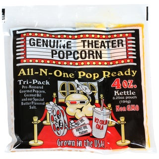 Superior Popcorn 4 Ounce Popcorn Packs 24 Case