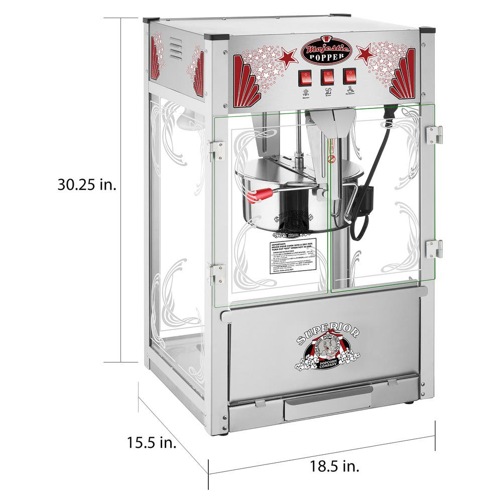 Commercial Style Popcorn Machine