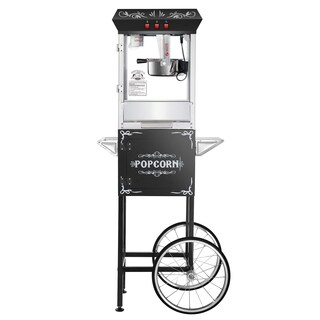 Superior Popcorn Popper Machine With Cart (Black)
