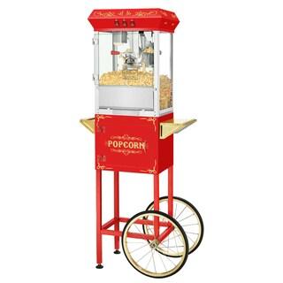 Superior Popcorn Popper Machine With Cart (Red)