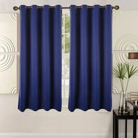 Ottomanson Blackout 63 Inch Grommet Top Curtain Panel Pair