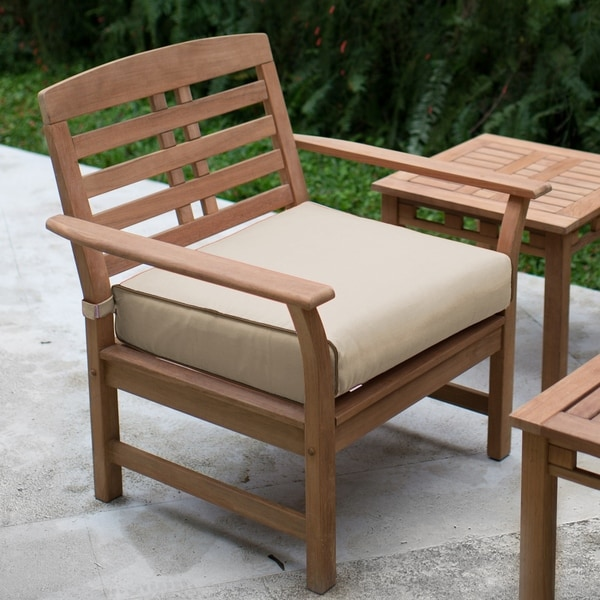 Havenside Home Goodwin Teak 2 Pack Lounge Chair With Taupe Seat Cushions