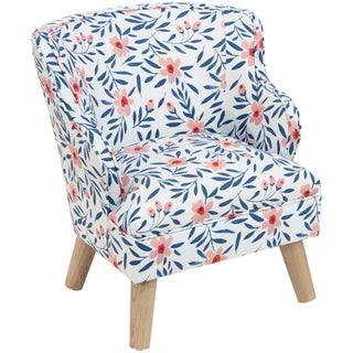 Skyline Furniture Kids Modern Chair in Fiona Floral Porcelain Blush