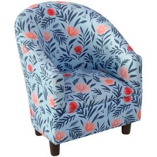 Skyline Furniture Kid's Tub Chair in Darcy Bloom Porcelain Blush