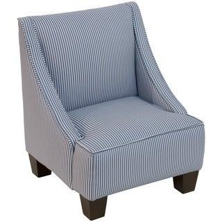 Skyline Furniture Kids Swoop Arm Chair in Oxford Stripe Navy